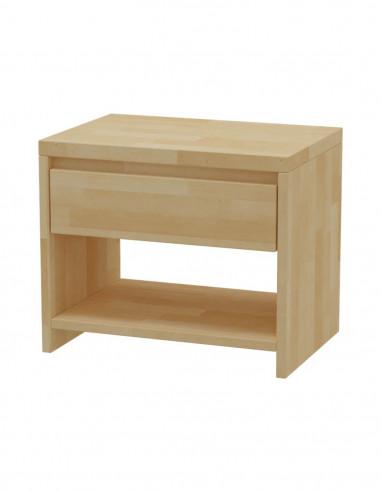 Nočný stolík z masívneho bukového dreva MS 2