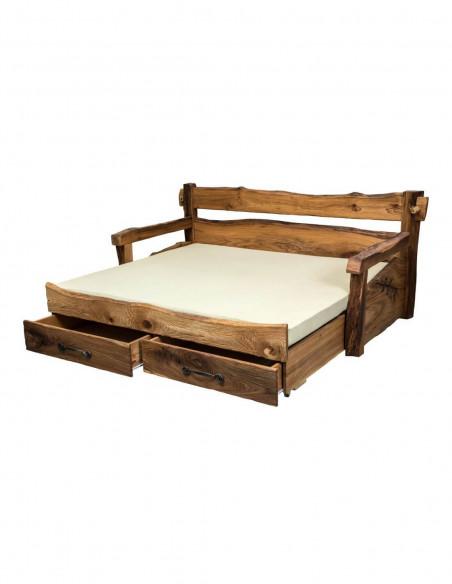 vysuvacia drevena postel