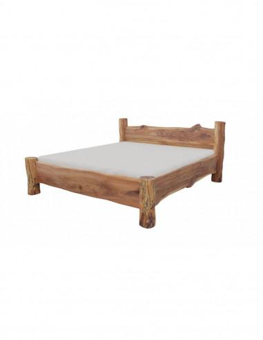luxusná posteľ z brestového dreva
