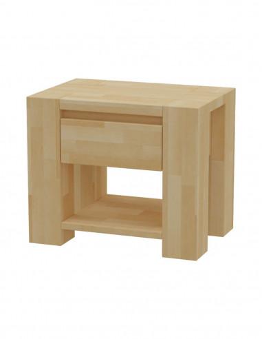 Nočný stolík z bukového dreva MS 7