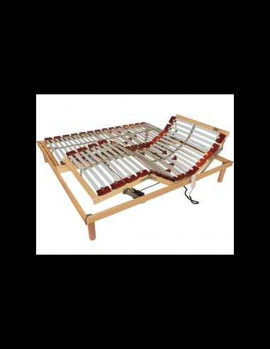 Set pevného - nepolohovateľného a mobilného lamelového roštu